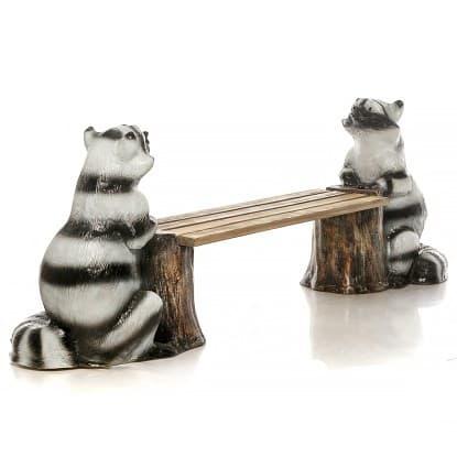 Лавочки, скамейки из полистоуна с деревом