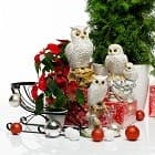 Интерьерные фигуры сов к Новому году