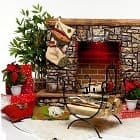 Украшаем камин к Новому году