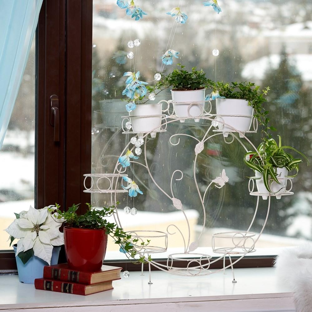 Подставки под цветы на окна фото