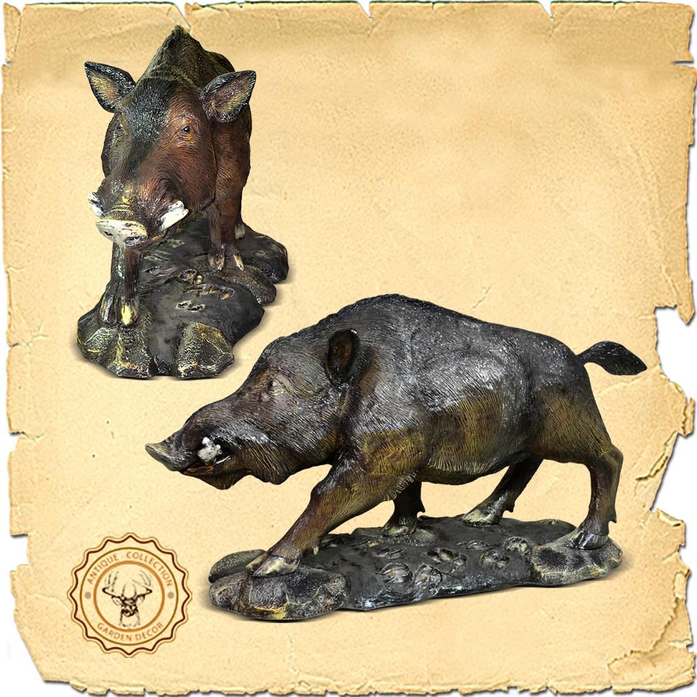 Бронзовая скульптура Кабан US07717