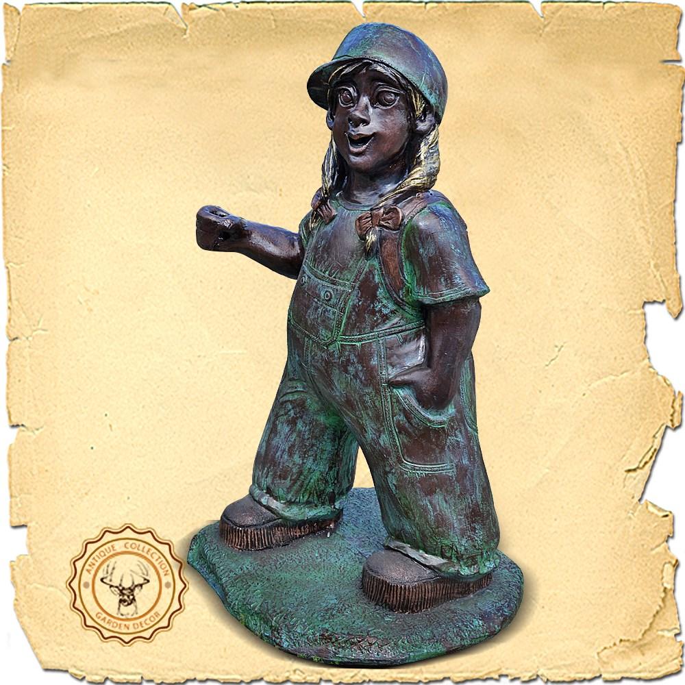 Парковая скульптура Девочка хулиганка US07460