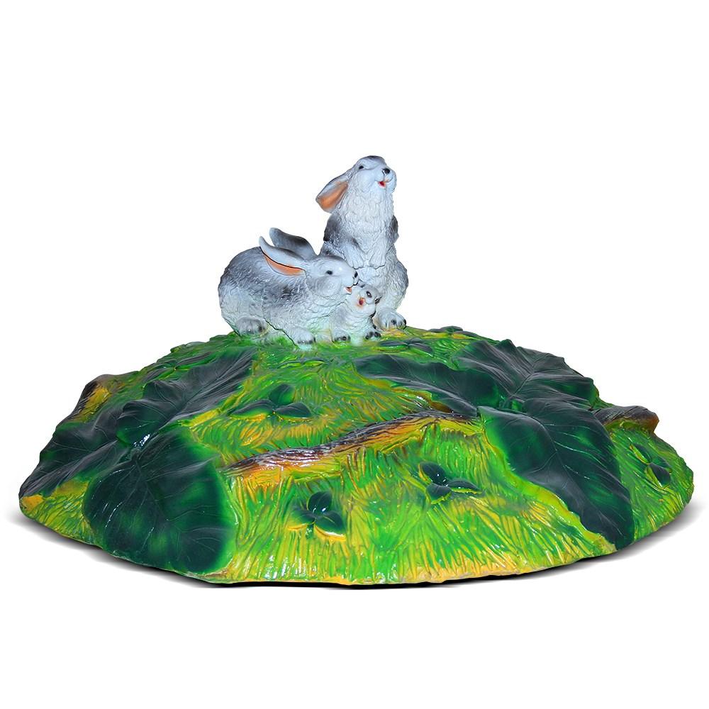 Крышка люка Зайчата - фото 13713