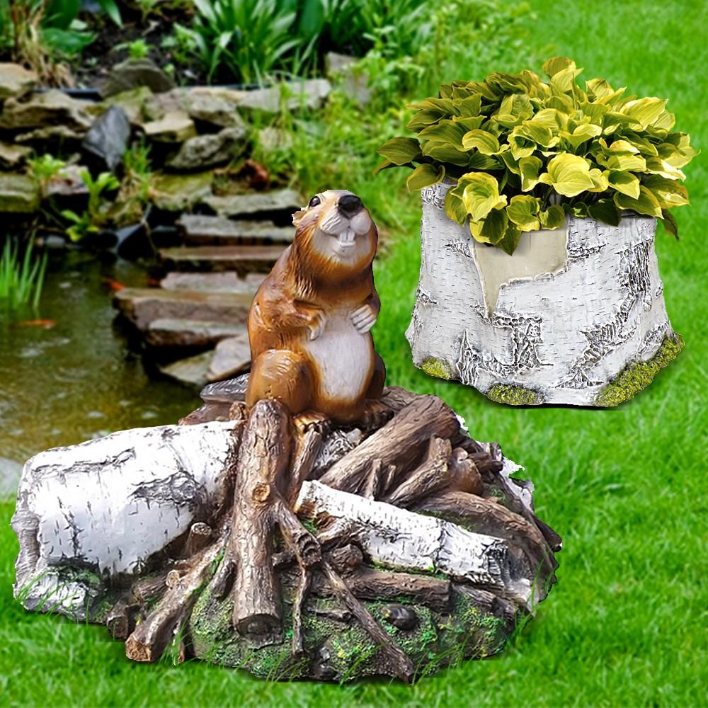 Комплект садовых фигур Бобер - фото 14075