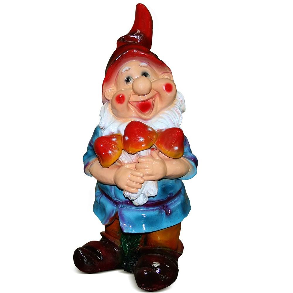 Садово-парковая фигура Гном с поганками - фото 14197