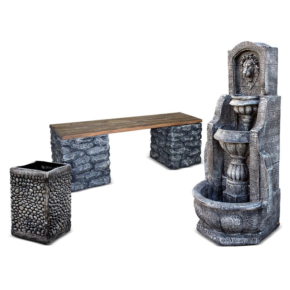 Комплект садовых фигур Каменный - фото 14282
