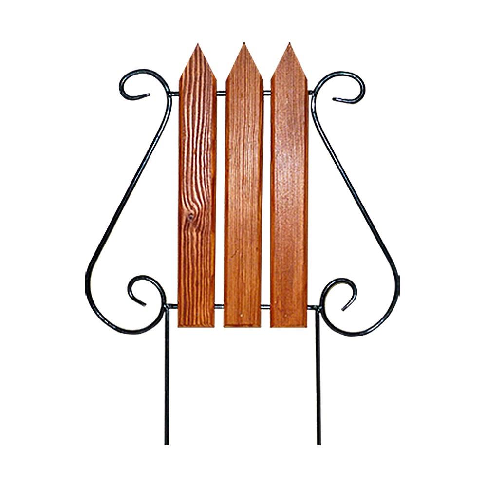 Кованый секционный забор с деревом (3 штакетины) - фото 14385