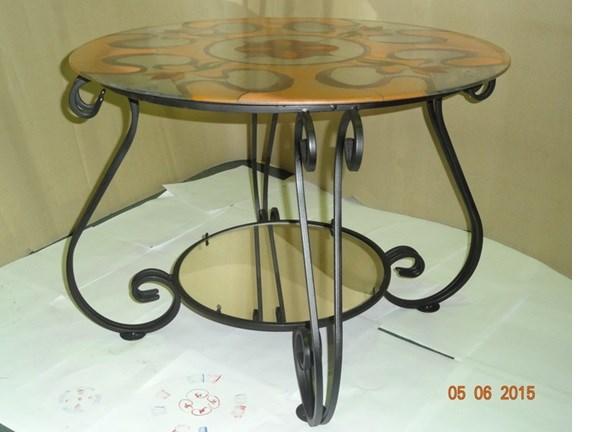 Столик с витражом и зеркалом - фото 14463