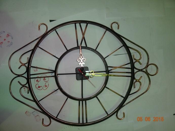 Кованые часы - фото 14475