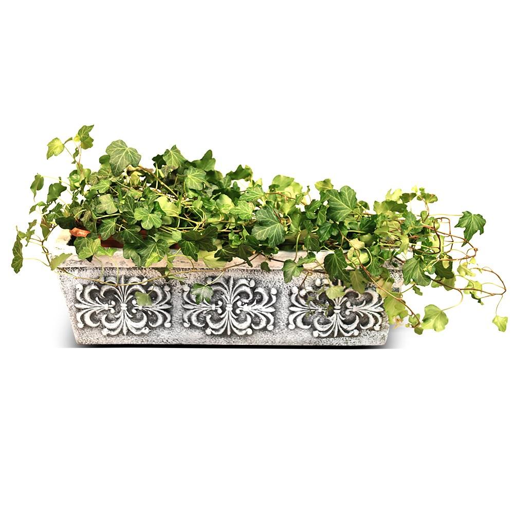 Кашпо для цветов с покраской под мрамор - фото 15099