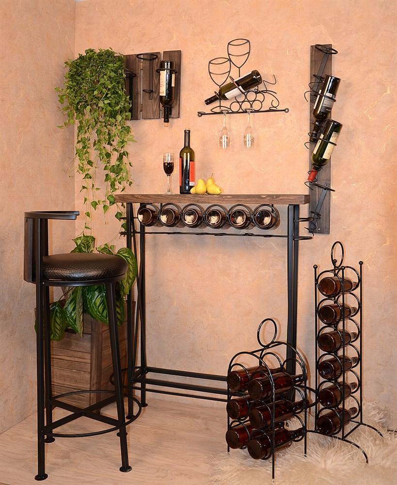 Настенный держатель вина