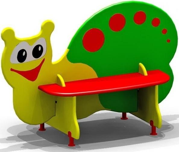 """Скамейка для детской площадки """"Улитка"""" - фото 18374"""
