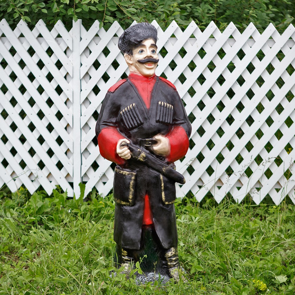 Садовая фигура казак