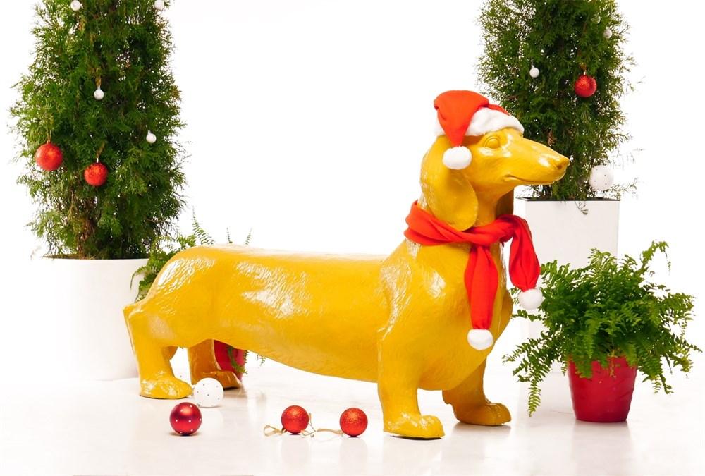 Новогодняя фигура собаки