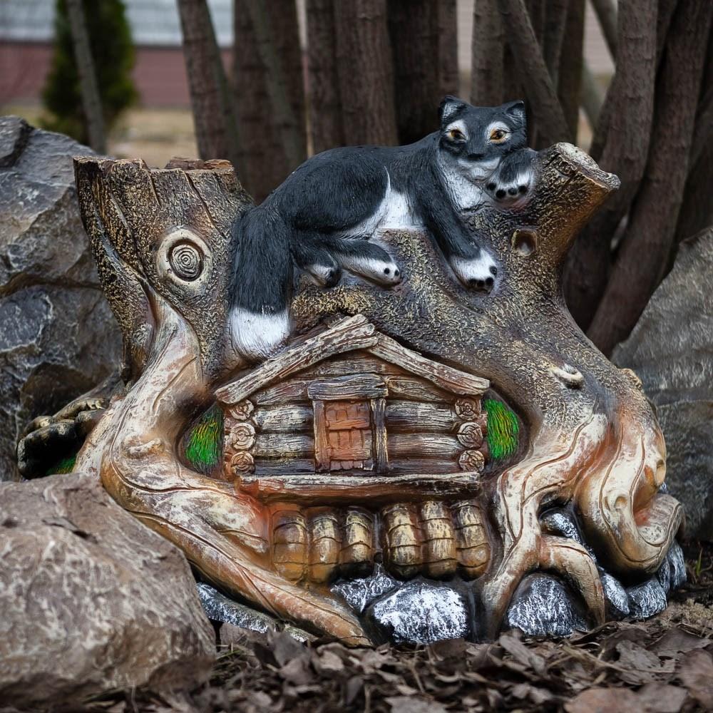 Декоративная крышка люка Кот