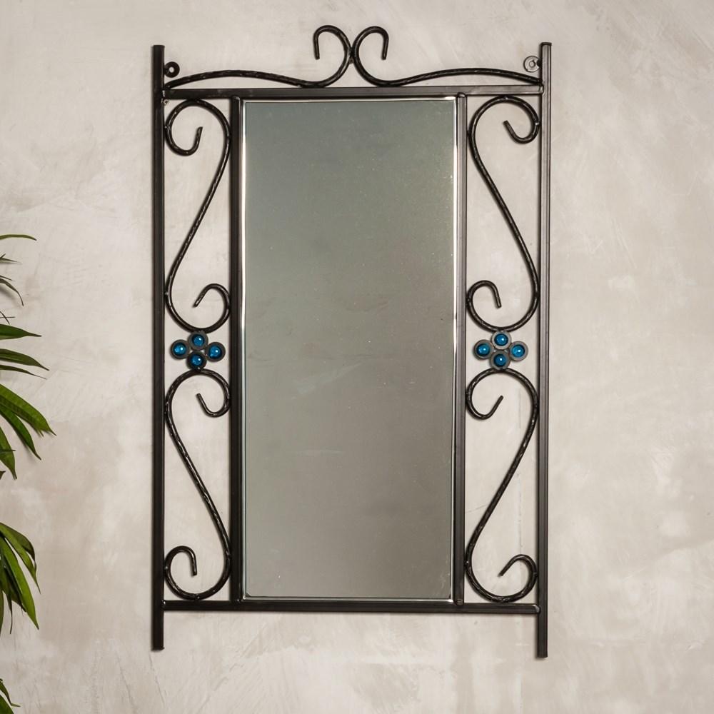 Зеркало настенное кованая рама - фото 49985
