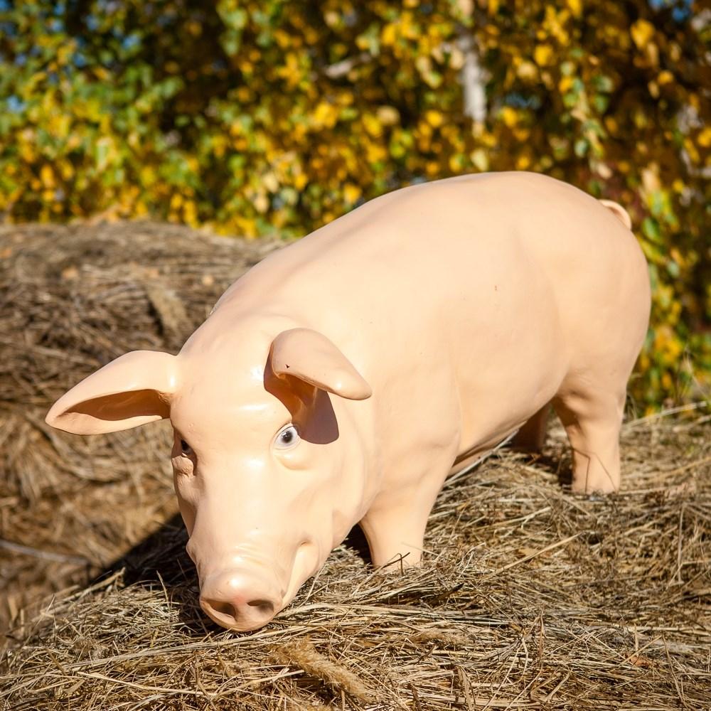 Садовая фигура Свинка - фото 50050