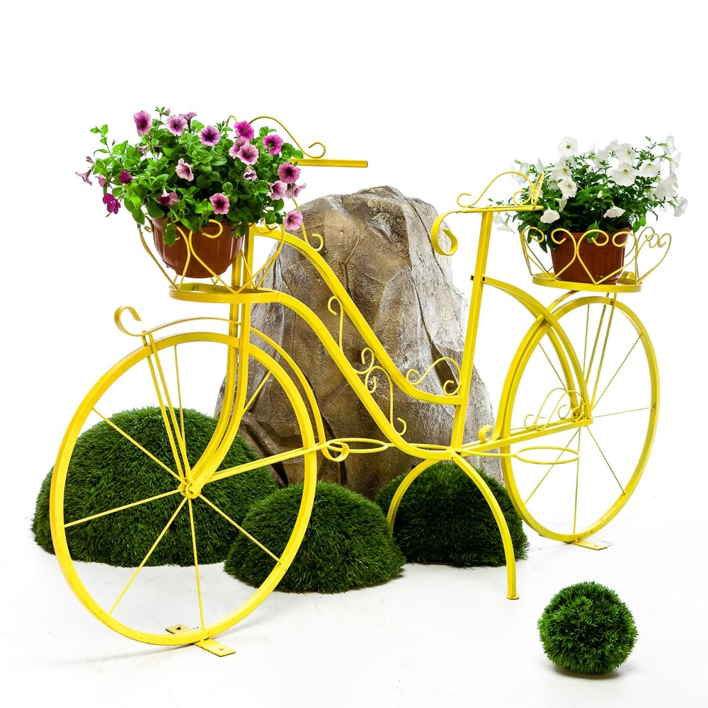Кованый велосипед для цветов - фото 56032