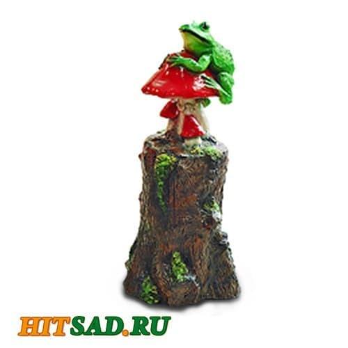 Садовая фигура Пень с лягушкой
