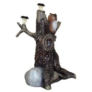 Сова на дереве садовая фигура