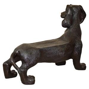 Садовая фигура Собака скамейка