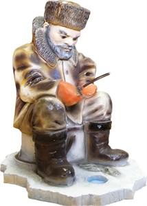 Парковая скульптура Рыбак