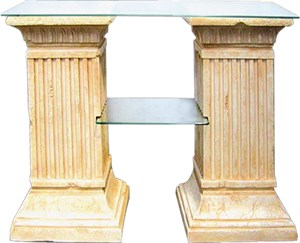 Стол две колонны с 2-полками