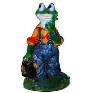 Декоративная фигура для сада Лягушка с лейкой