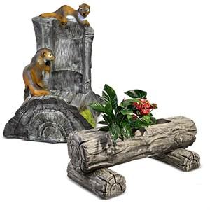 Комплект садовых фигур - Фонтан и Кашпо