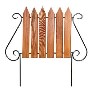 Кованый секционный забор с деревом (6 штакетин)