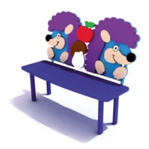 """Скамейка для детской площадки """"Ежики"""""""