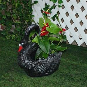 Кашпо для цветов лебедь