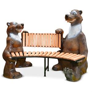 Скамейка для дачи Медведи