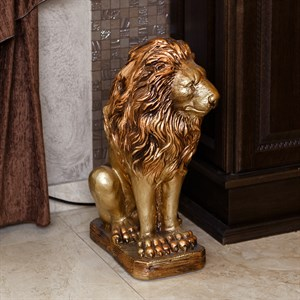интерьерные фигуры льва для улицы