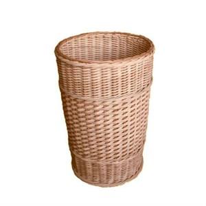 Плетеная корзина круглая фото
