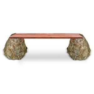 Скамейка камни