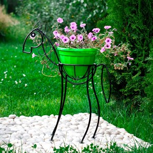 Садовая подставка лошадка