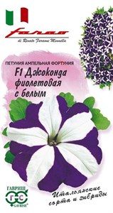 Петуния Джоконда F1 фиолетовая с белым 10шт