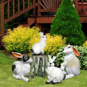коллекция рекламных фигур зайцы