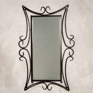Настенное зеркало в кованой раме