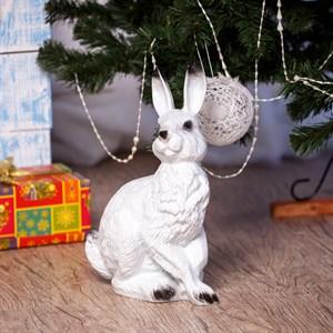 Заяц садовая фигура