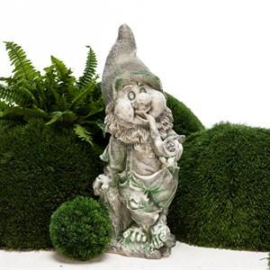 Садовая фигура Гном с трубкой