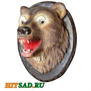 Панно декоративное голова медведя
