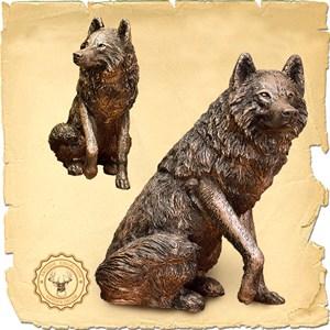 Бронзовая скульптура Волк