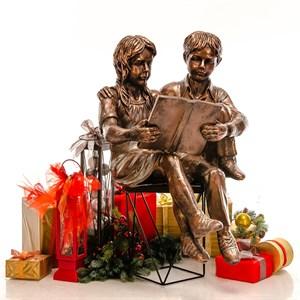 Бронзовая скульптура Мальчик и Девочка
