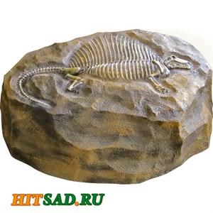 Камень с динозавром