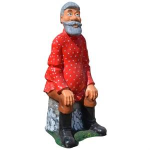 Фигура для сада Дед на пне