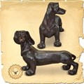 Бронзовая скульптура Лавка Собака US07703