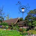 Шпалера для растений Утка с фонарем - фото 13830