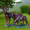 Комплект садовых фигур Олени под бронзу - фото 14055